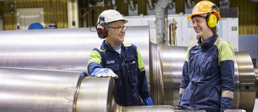 Basindustrins dag: Omslipning av valsar. SSAB Europe.