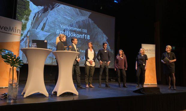 Panelsamtal under Svemins miljökonferens