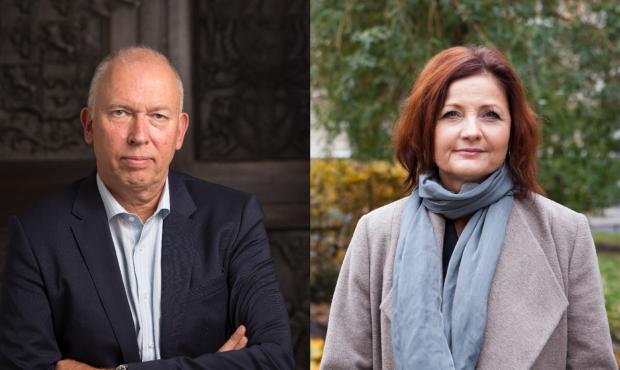 Per Ahl och Marie Nilsson, kollage för debattartikel om dieselskatt